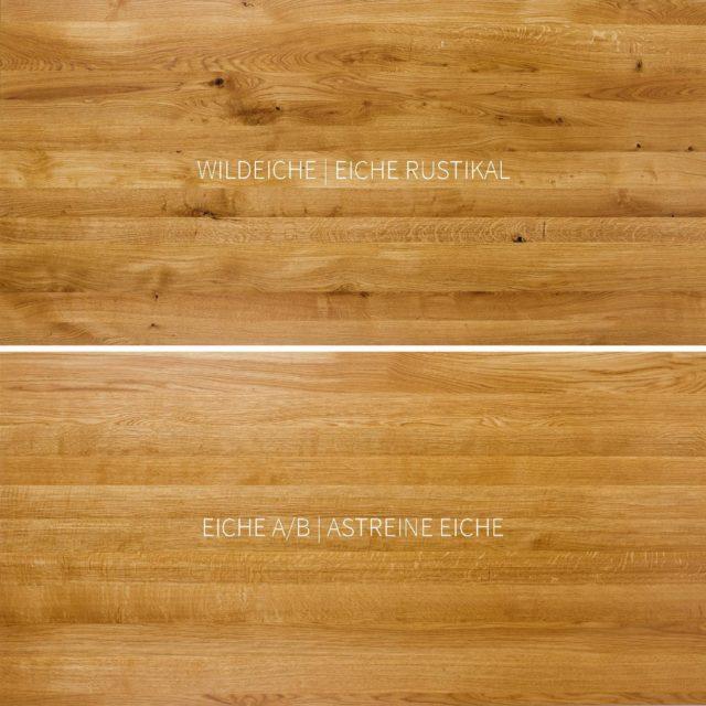 FEINEICH Möbel gibt es in diesen zwei Sortierungen: #wildeiche bzw. #eicherustikal oder alternativ in #eicheastrein bzw. Eiche A/B. Weitere Infos dazu auf feineich.de  #feineich #designmöbel #madeinsüdbaden #regionales #eichenholz #filigranundstabil #minimalistisch